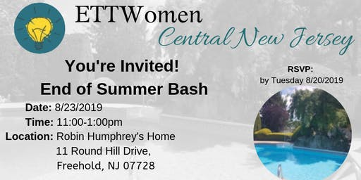 ETTWomen Central New Jersey: You're Invited! End of Summer Bash