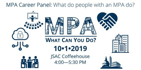 MPA: What Can You Do? Career Panel 2019 tickets