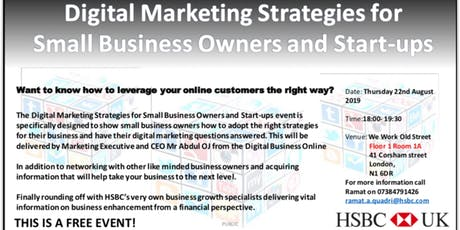 Digital Marketing Strategies for Small Business Owners and Startups tickets