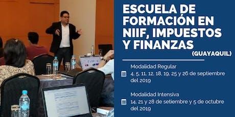 ESCUELA DE FORMACIÓN EN NIIF, FINANZAS E IMPUESTOS tickets