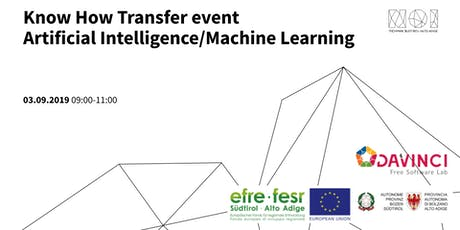 Know How Transfer Event Artificial Intelligence/Machine Learning 4th Meeting tickets