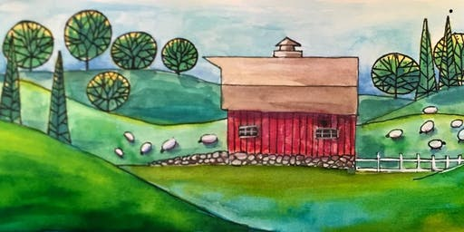 Wine and Watercolor with Russ Fagle (Class at NewBo)