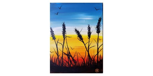 "Fundraiser for Phoenix Stage Company painting ""Fall Fields"""