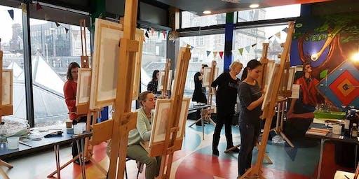 Oil Painting workshop with Razieh Sarafraz