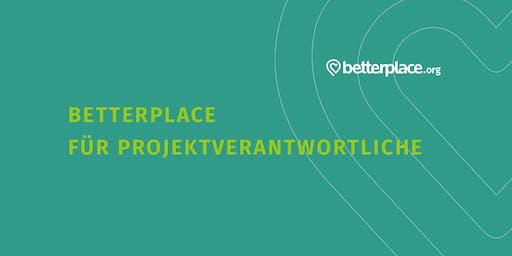 betterplace.org-Sprechstunde für Projektverantwortliche