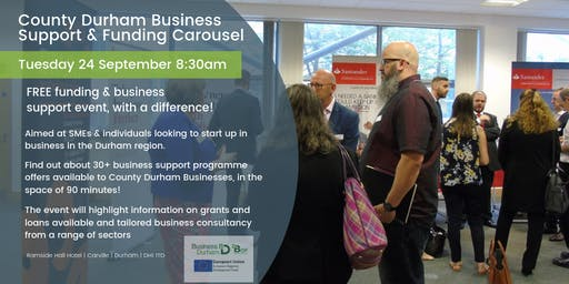 County Durham Business Support and Funding Carousel