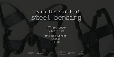 workshop | learn the skill of steel bending tickets