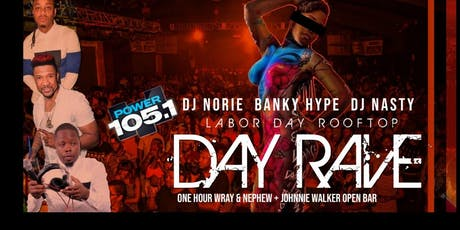 Power 105 Rooftop Labor Day Caribbean Day Rave l Dj Norie + Banky Hype Live l free patties + roti l open bar Jwb + wray & nephew tickets