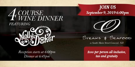 O Steaks & Seafood Hosts Mollydooker Wine Dinner tickets