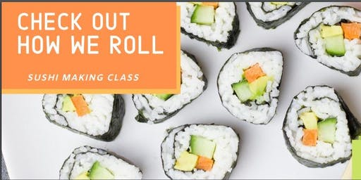 How We Roll!  Sushi making at Chesterfield County Public Library