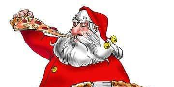 Pizza With Santa