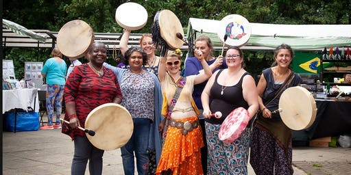 Group Drumming with Lorna Hunte of Blaze 2wo Holistic Therapies