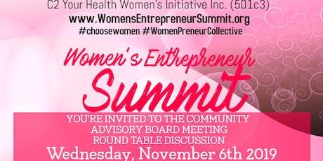 Women's Entrepreneur Summit Community Advisory Board Meeting - November 6 tickets