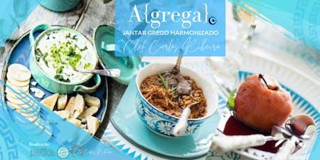 A{grega} Jantar Grego Harmonizado, assinado por Chef Carlos Ribeiro ingressos