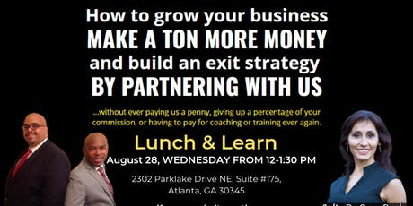 Lunch and Learn Event on August 28, 2019 tickets