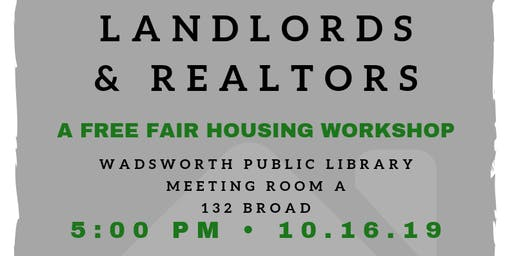 Free Workshop For Wadsworth Landlords & Realtors