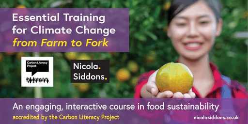 Climate Change Training from Farm to Fork- with The Carbon Literacy Project