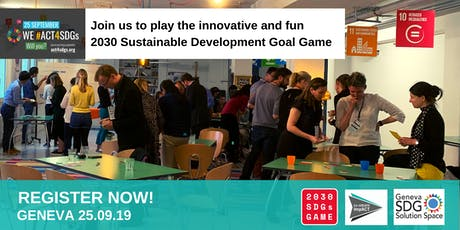 2030 Sustainable Development Goals Game tickets