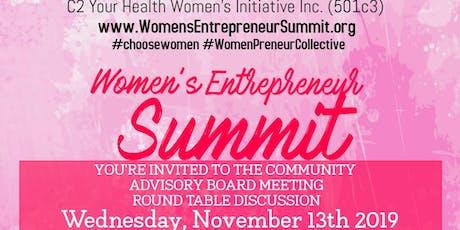 Women's Entrepreneur Summit Community Advisory Board Meeting - November 13 tickets