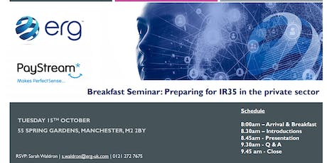 Breakfast Seminar: Preparing for IR35 - Managing and Mitigating Risk   tickets