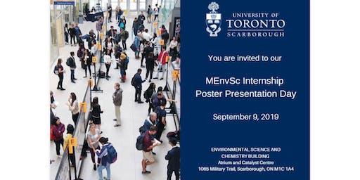 MEnvSc Internship Poster Presentation Day