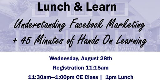 FREE C.E Class - Understanding Facebook Marketing + 45 Minutes of Hands on Learning