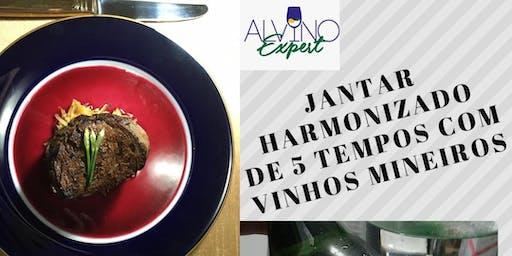 Jantar harmonizado de 5 tempos com Vinhos Mineiros