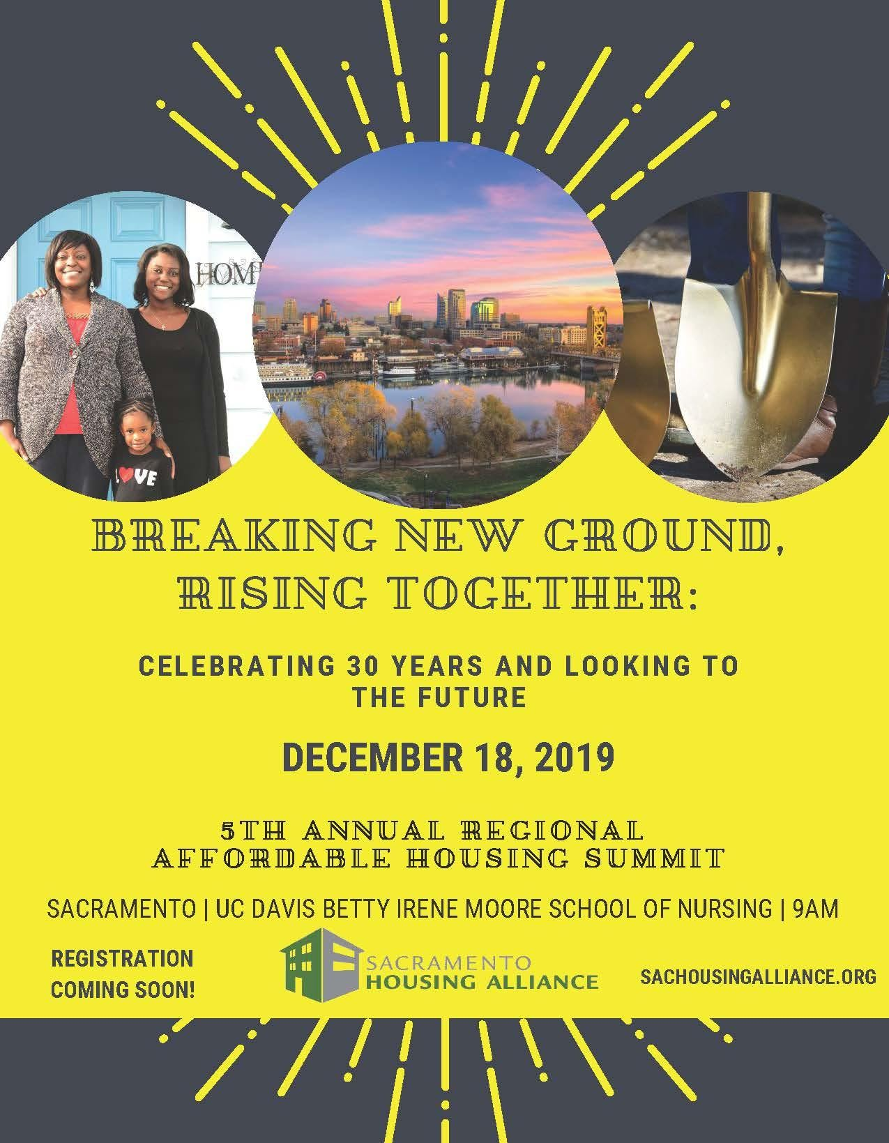 5th Annual Sacramento Regional Affordable Housing Summit Breaking New Ground Rising Together