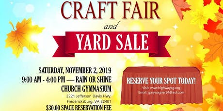 Craft Fair & Yard Sale tickets