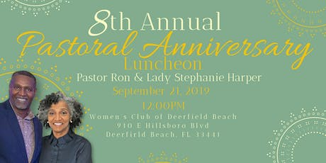 New First Church, COGIC 8th Annual Pastor's Anniversary Luncheon tickets
