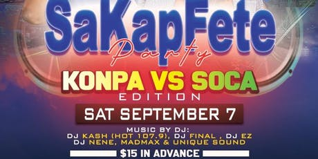 """SAKAPFETE KONPA VS SOCA EDITION"" tickets"