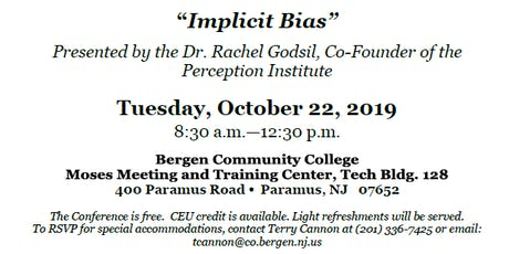 "Human Relations Commission Conference ""Impicit Bias"" tickets"