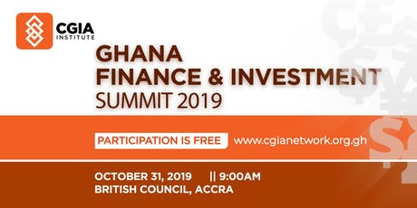 Ghana Finance and Investment Summit 2019 tickets