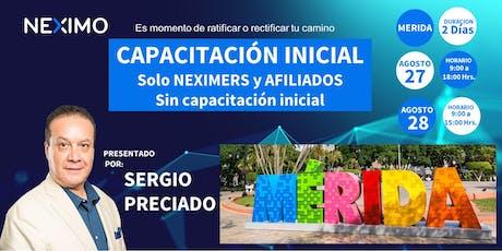 Capacitación inicial Mérida boletos