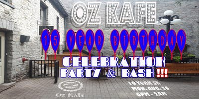 Oz Kafe 15 Year Anniversary Party