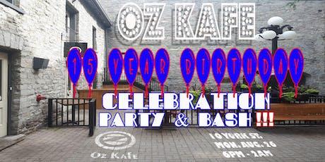 Oz Kafe 15 Year Anniversary Party tickets