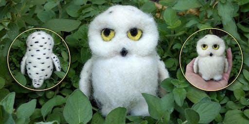 Needle Felt a Snowy Owl