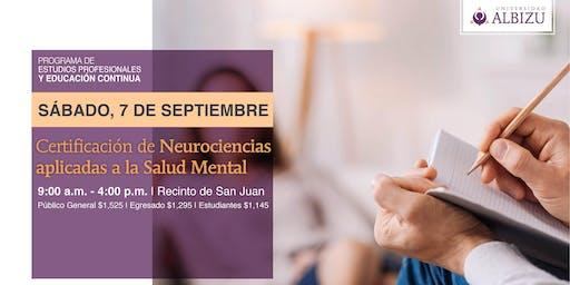 EC: Certificación de Neurociencias aplicadas a la Salud Mental