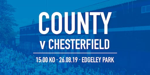 #StockportCounty vs Chesterfield F.C.