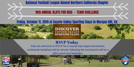 Northern California 18th ANNUAL KLAYS FOR KIDS  -  TEAM CHALLENGE tickets