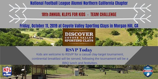 Northern California 18th ANNUAL KLAYS FOR KIDS  -  TEAM CHALLENGE