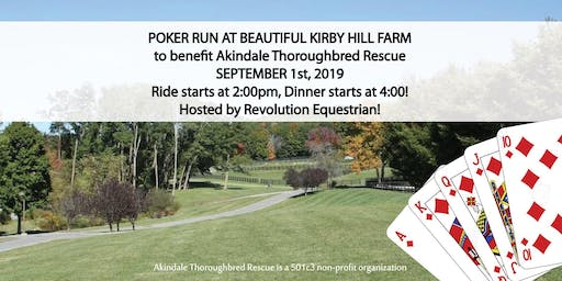 Poker Run at Kirby Hill Farm, Pawling NY to Benefit Akindale TB Rescue