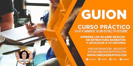 CURSODE ESCRITURA DE GUION tickets
