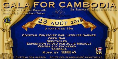 Gala for Cambodia parrainé par Le Lions Club  tickets