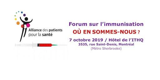 Forum sur l'immunisation au Québec : Où en sommes-nous ?