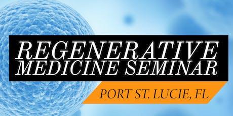 FREE Regenerative Medicine & Stem Cell For Pain Lunch Seminar - Jensen Beach/Port St. Lucie, FL tickets