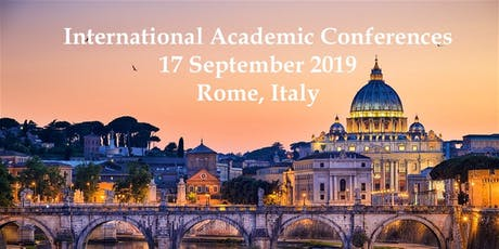 International Academic Conferences Rome, Italy September, 2019 biglietti