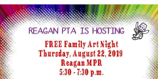 Free Reagan PTA Family Art Night