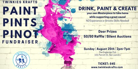 Paint Pints Pinot Fundraiser for Special Needs and Autism Acceptance tickets