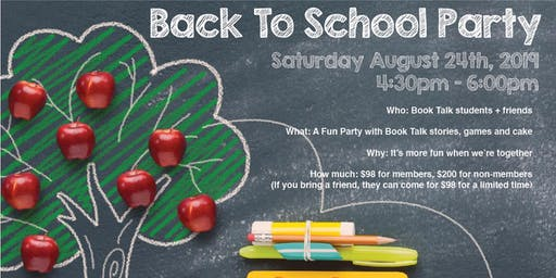 Book Talk Back to School Party (CWB)